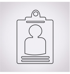 identity card icon vector image