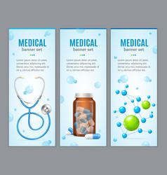Medical Banner Vertical Set vector image