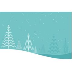 minimal creative winter christmas tree lanscape vector image