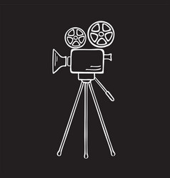 movie camera sketch vector image