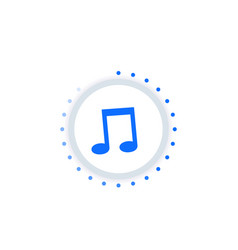 music streaming vector image