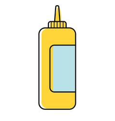 Mustard flat on white vector