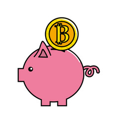 Nice pig to save coin currency broken vector
