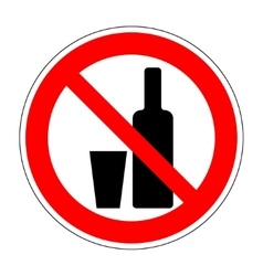 No drinking sign 204 vector image
