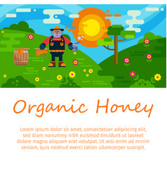 organic honey products flat vector image