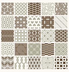 ornamental seamless backdrops set geometric vector image vector image