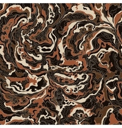 pattern with the image texture of smoke chocolate vector image