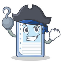 pirate clipboard character cartoon style vector image