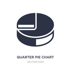 Quarter pie chart icon on white background simple vector