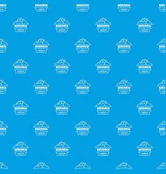 research molecular pattern seamless blue vector image