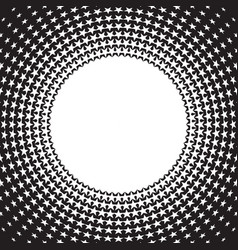 Retro star style circle halftone background vector