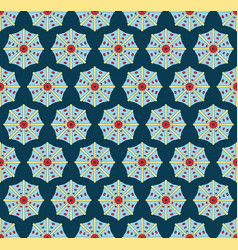 seamless pattern with bright seashells vector image