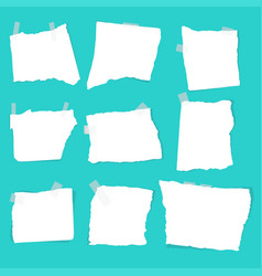 set of paper scraps vector image