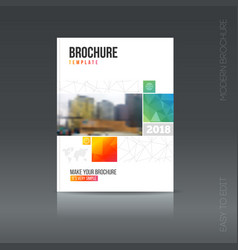 Simple style brochure flyer promotion vector