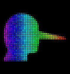 Spectral colored pixel lier icon vector
