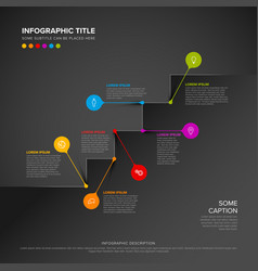 Stairs infographic with colorful pins vector
