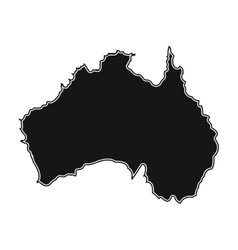 Territory of Australia icon in black style vector image