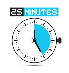 Twenty Five Minutes Stop Watch - Clock vector image