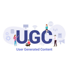 Ugc user generated content concept with big word vector
