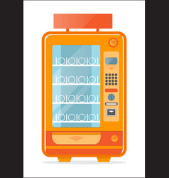 Vending machine with empty shelves icon vector