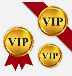 Vip members only gold sign label template vector