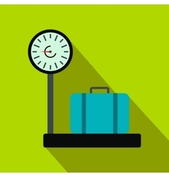 Weighing luggage flat icon vector