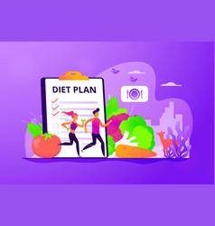 Weight loss diet concept vector