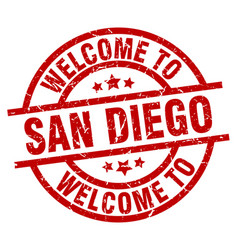 welcome to san diego red stamp vector image