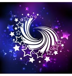 White swirl white comets vector