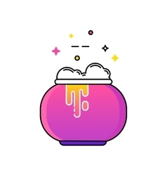 Witches cauldron with potion vector