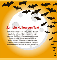 with flying bats on full moon vector image