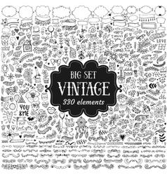 Big set of vintage elements vector image