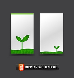 Business Card template set 15 ecology concept vector image vector image