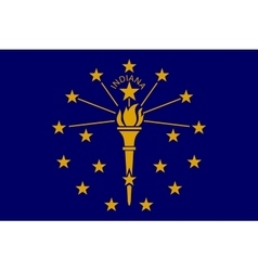 Flag of Indiana in correct size and colors vector image