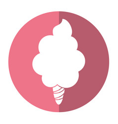sweet cotton candy shadow vector image vector image