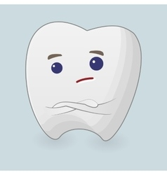 Tooth with folding arms vector image vector image