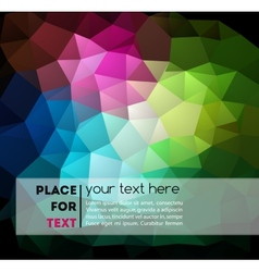 Abstract colorful geometric background vector image