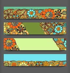 Abstract pattern cards set vector image