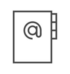 Address Book Line Icon vector image vector image
