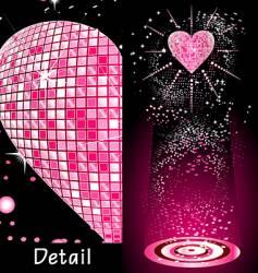 Disco heart vector