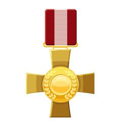 Military cross icon cartoon style vector