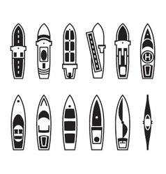 Sea ships and boats from above vector image vector image