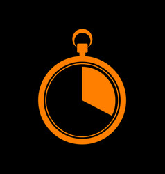 the 20 seconds minutes stopwatch sign orange vector image