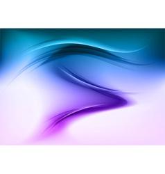 abstract smoke blue vector image vector image