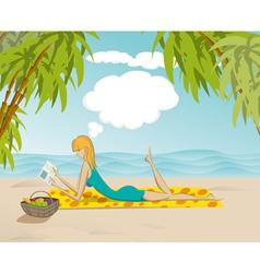Beach Woman vector image vector image