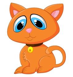 Cartoon adorable cat posing vector image vector image