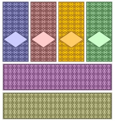 complete set of patterns vector image vector image
