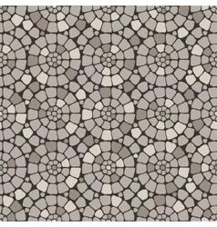 Grey pave stone circles road seamless pattern vector