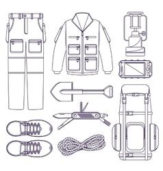 Hiking set vector image
