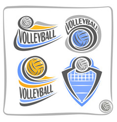 logo volleyball ball vector image